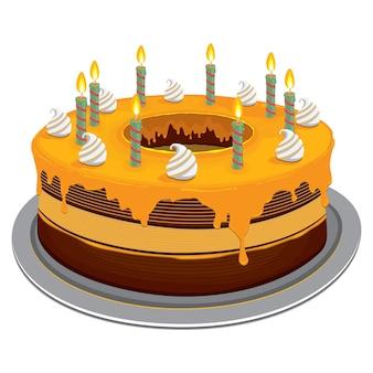 Gâteau d'anniversaire au fromage