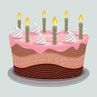 Gâteau d'anniversaire crème sucrée