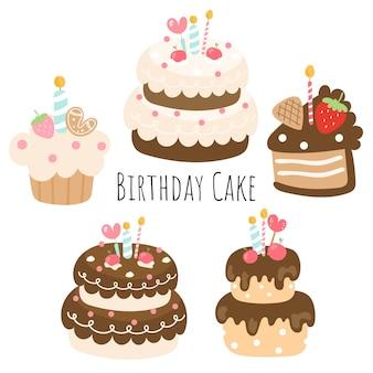 Gâteau d'anniversaire, élément d'anniversaire.