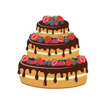 Gâteau au chocolat et baies