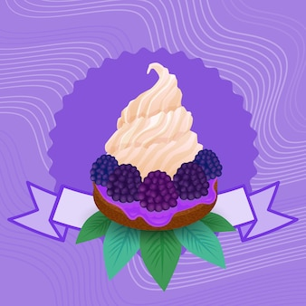 Gâteau coloré doux belle cupcake dessert de la nourriture délicieuse