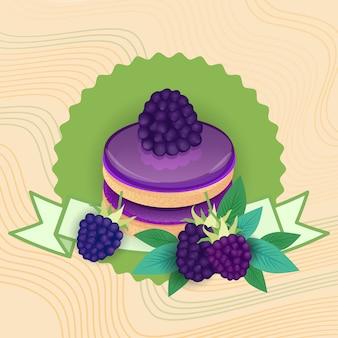 Gâteau coloré sweet beautiful dessert delicious food