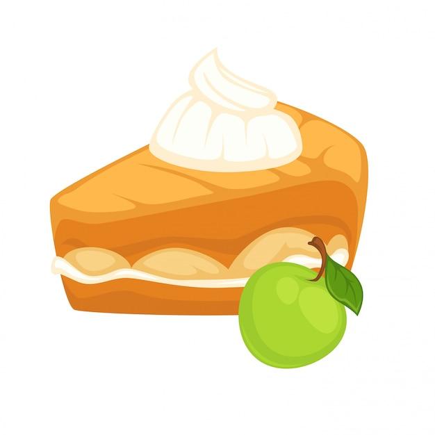Gâteau à la confiture de pomme et à la crème fouettée tendre