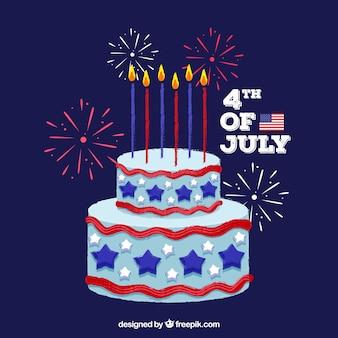 Gâteau de la fête de l'indépendance américaine