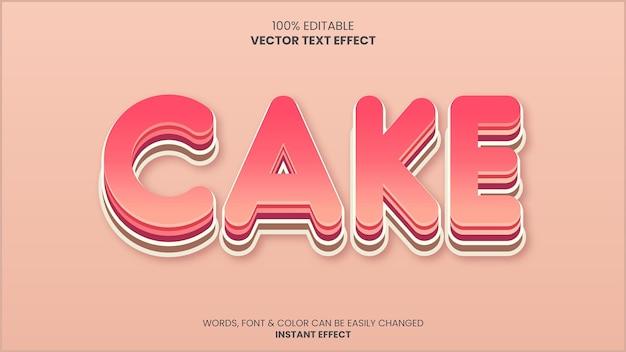 Gâteau texteeffet
