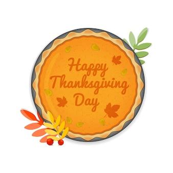 Gâteau de voeux happy thanksgiving day