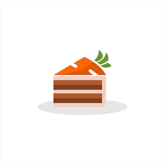 Gâteaux aux carottes mignon dessin animé tranche boulangerie