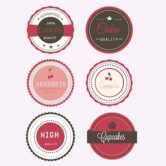 Gâteaux étiquettes