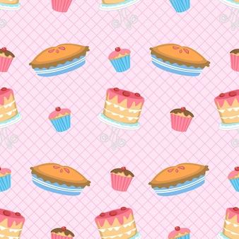 Gâteaux et tarte modèle sans couture