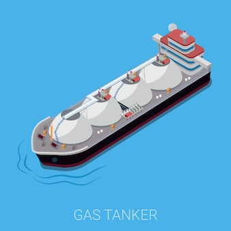 Gaz pétrolier plat isométrique