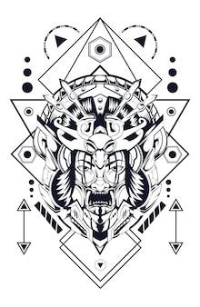 Geisha diable géométrie sacrée premium