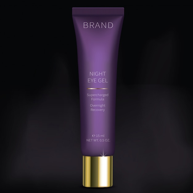 Gel cosmétique de nuit pour le soin de la peau des yeux