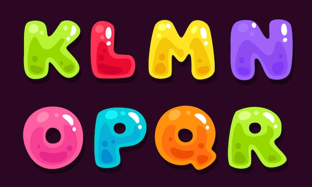 Gelée colorée alphabets partie 2