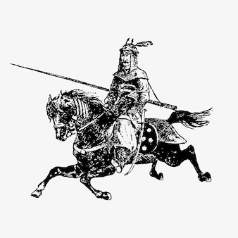 Général de l'armée orientale à cheval