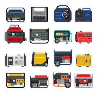 Générateur de vecteur de génération génératrice portable essence essence carburant énergie industrielle moteur électrique équipement ensemble de l'industrie diesel