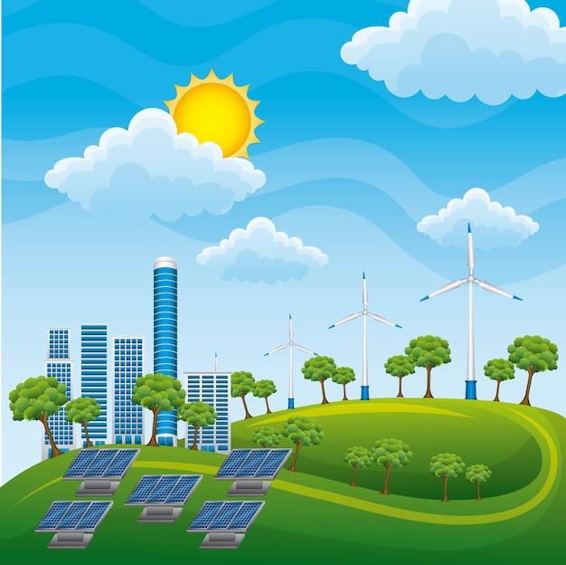 Générateurs de sources d'énergie alternatives panneaux solaires