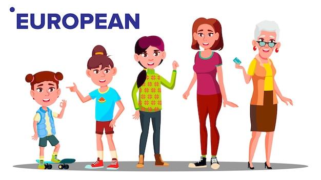 Génération européenne femelle
