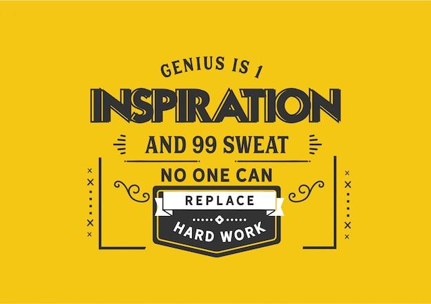 Le génie est une inspiration