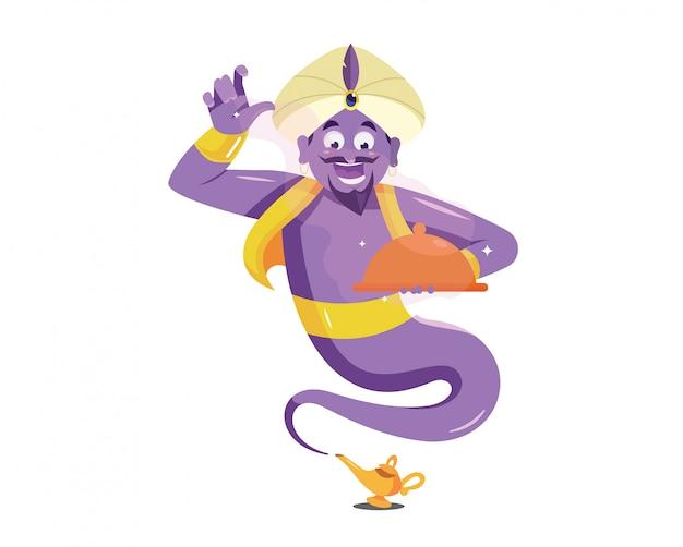 Génie violet apporter un aliment magique