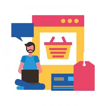 Les gens achats en ligne