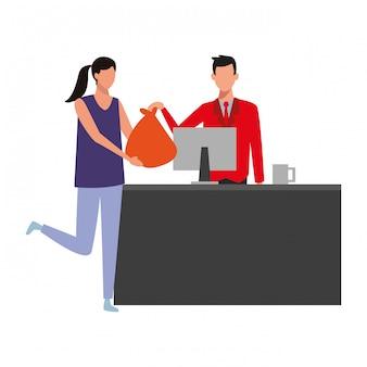 Gens, achats, supermarché
