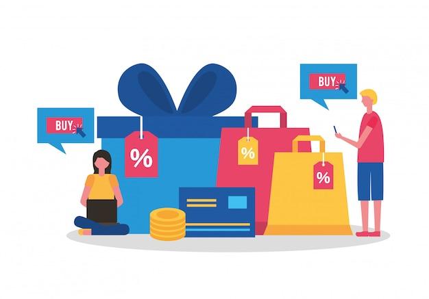 Les gens achètent en ligne