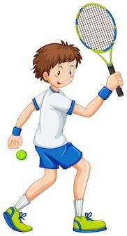 Gens d'activité sportive sur blanc