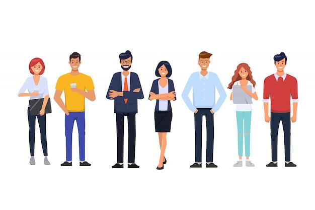 Gens d'affaires en bureau d'organisation et caractère d'emploi indépendant.