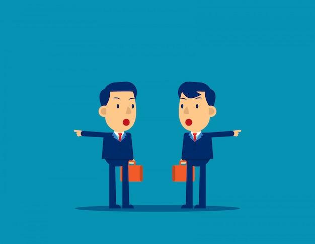 Gens d'affaires avec des directions différentes