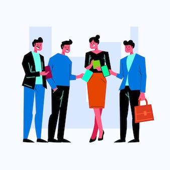 Gens d'affaires discutant d'illustration