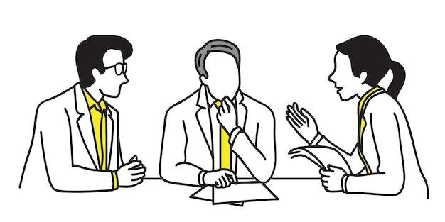 Gens d'affaires discutant