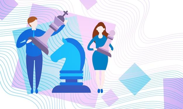 Gens d'affaires avec des échecs
