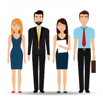 Gens d'affaires et entrepreneur