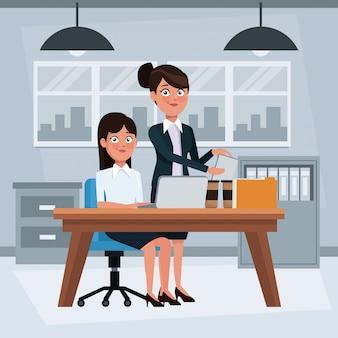 Gens d'affaires à l'intérieur du bureau