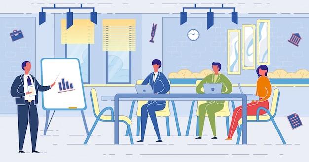 Les gens d'affaires lors d'une réunion au bureau