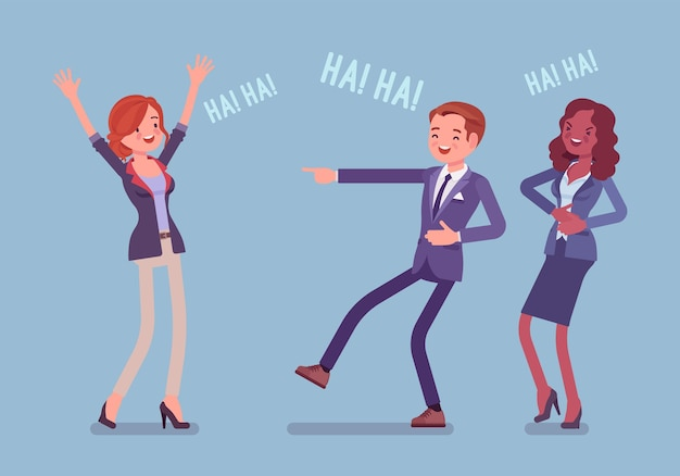 Gens d'affaires plaisantant, riant