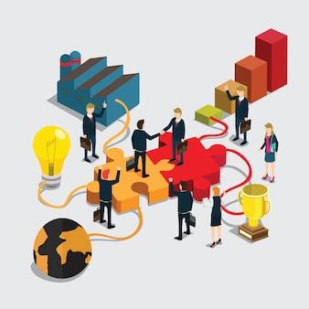 Gens d'affaires poignée de main pour le succès