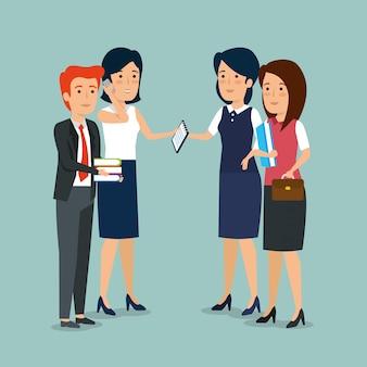 Les gens d'affaires professionnels coopérant