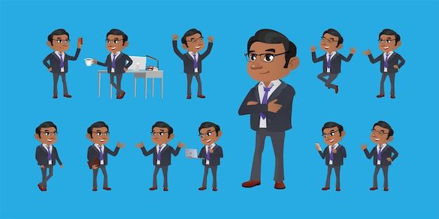 Gens d'affaires réglés avec différents gestes
