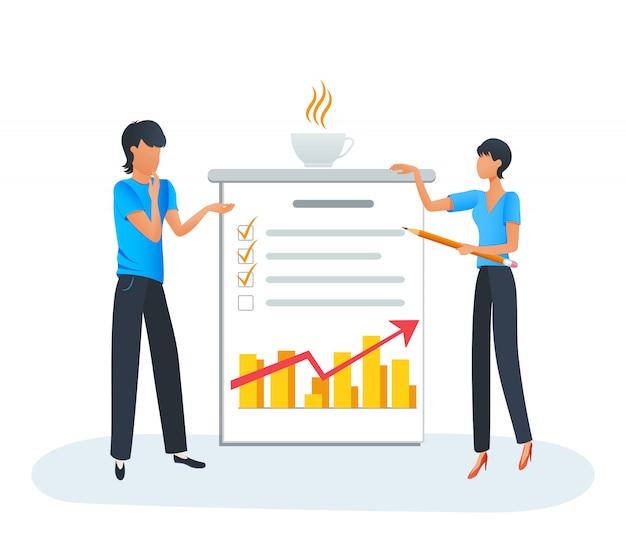 Gens d'affaires réunion discussion entreprise plan d'affaires recherche marketing