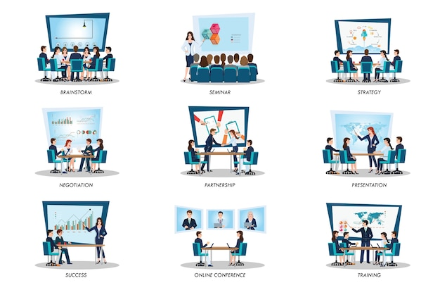 Gens d'affaires de réunion ou de travail d'équipe