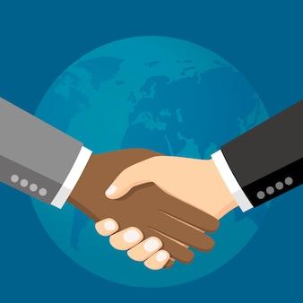 Gens d'affaires se serrant la main vector illustration