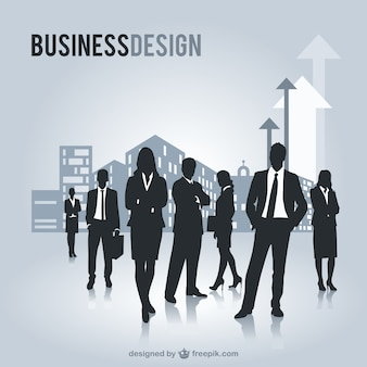 Gens d'affaires silhouettes graphiques gratuits