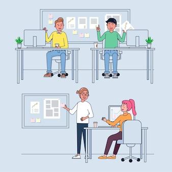 Gens d & # 39; affaires travaillant au bureau