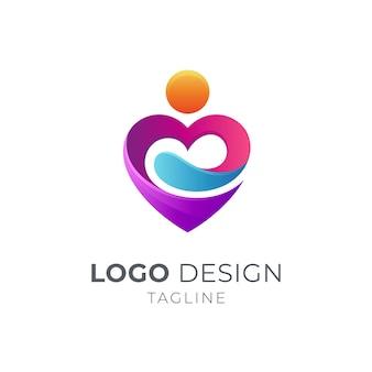 Les gens aiment le logo de soins