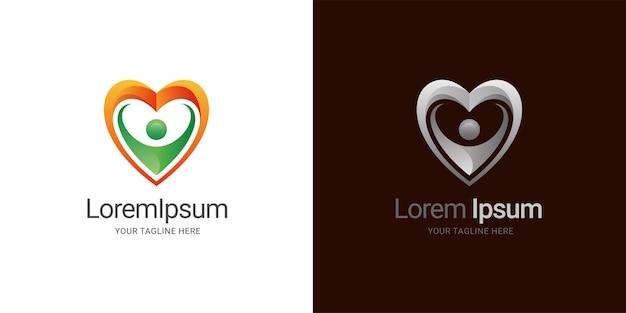 Les gens aiment le modèle de logo de soins