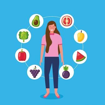 Les gens des aliments sains