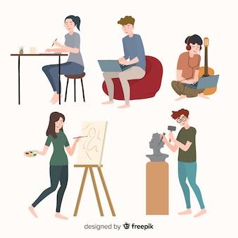 Les gens et l'art