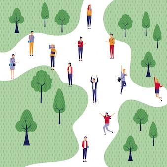 Les gens au parc