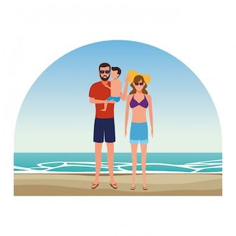 Gens de la bande dessinée en vacances d'été